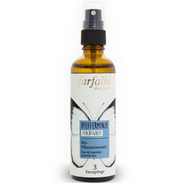 Farfalla Pfefferminze Bio-Pflanzenwasser 75ml Feuchtigkeit