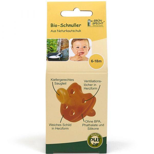 Grün Specht Bio-Schnuller 6-18m