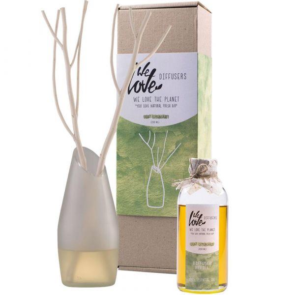 We Love The Planet Diffuser Light Lemongrass 200ml