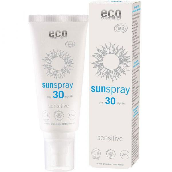 Eco Cosmetics Sonnenspray LSF 30 sensitive