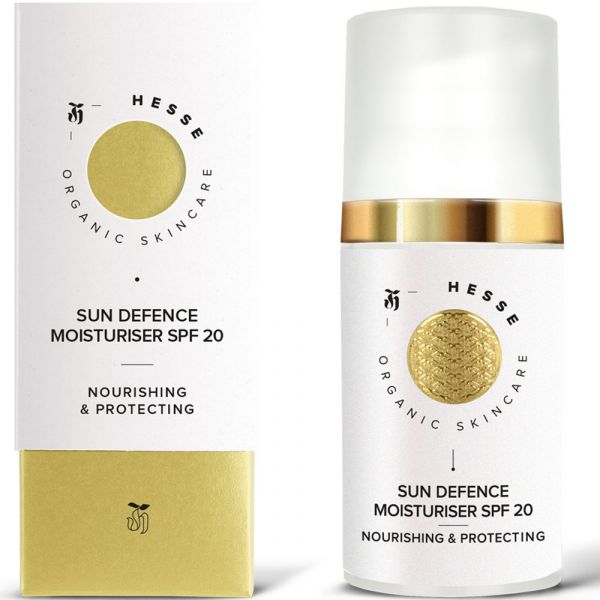 Hesse Organic Skincare SUN DEFENCE MOISTURISER SPF 20 NOURISHING & PROTECTING