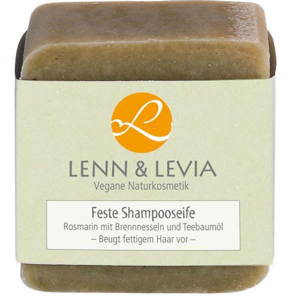 Lenn & Levia Festes Shampoo Rosmarin mit Brennnesseln und Teebaumöl