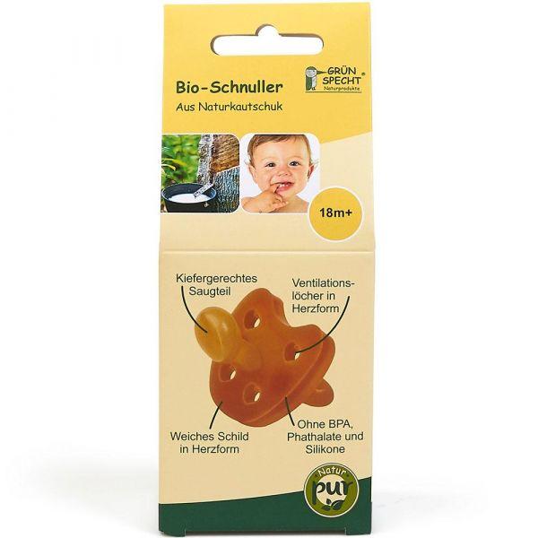Grün Specht Bio-Schnuller 18m+