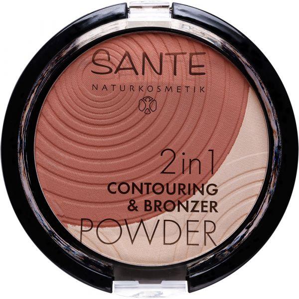 Sante 2in1 CONTOURING & BRONZER POWDER 01 light medium