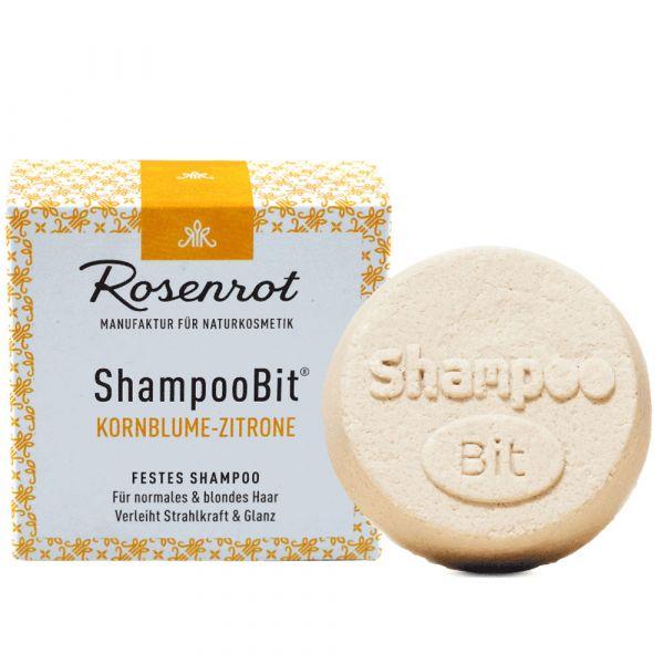 Rosenrot festes Shampoo Kornblumen-Zitronen