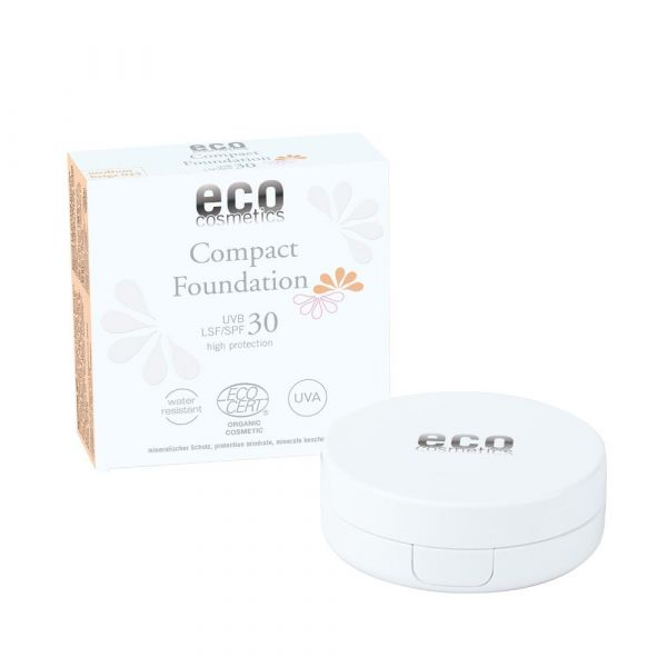 Eco Cosmetics Compact Foundation LSF 30 Medium beige