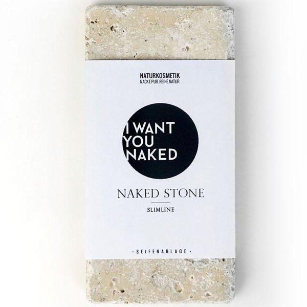 I Want You Naked Seifenablage aus Travertin