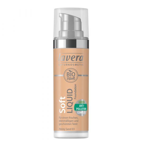 Lavera SOFT LIQUID FOUNDATION Honey Sand 03
