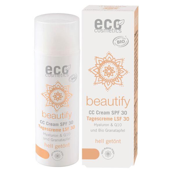 Eco Cosmetics CC Creme getönt LSF 30 hell