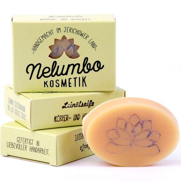 Nelumbo Kosmetik Leinölseife