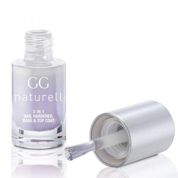 GG naturell 3 in 1 Nail Hardener, Base & Top Coat