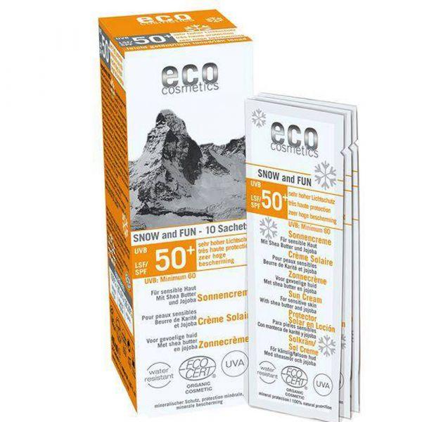 Eco Cosmetics Sonnencreme LSF 50+ leicht getönt SNOW & FUN