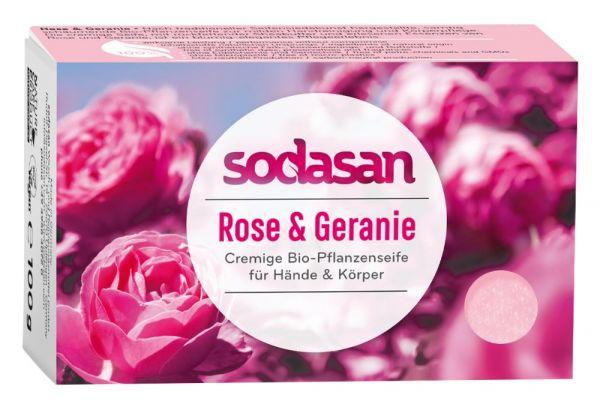 Sodasan Wilde Rose Seife