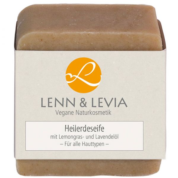 Lenn & Levia Heilerde Seife mit Lemongras und Lavendelöl