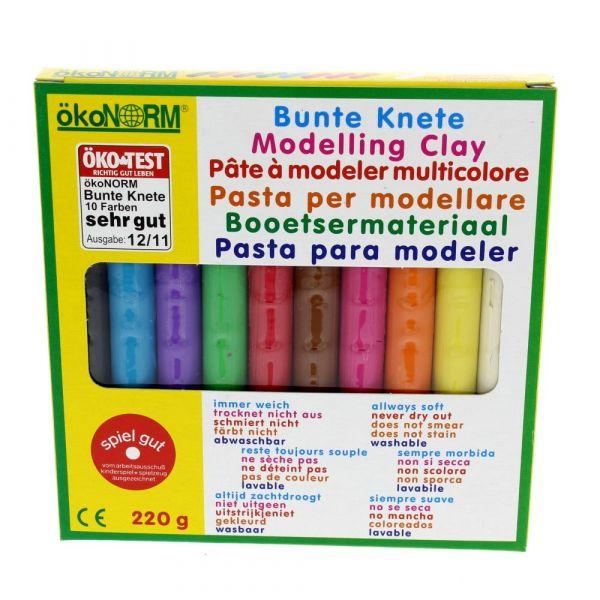 Oekonorm Bunte Knete, 10 Farben