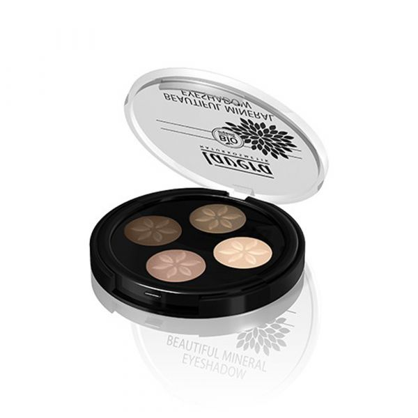 Lavera Illuminating Eyeshadow Quattro Cappuccino Cream 02