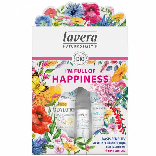 Lavera Geschenkset I AM FULL OF HAPPINESS + gratis Lippenbalsam